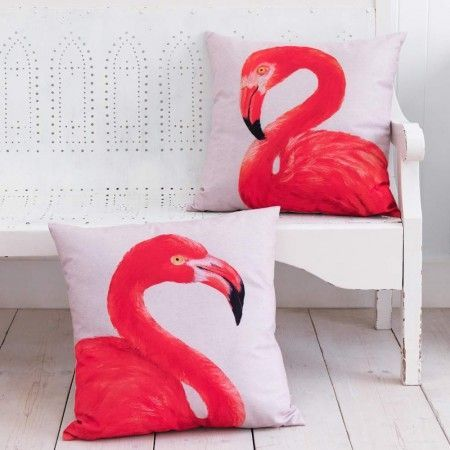 Flamingo image cushions