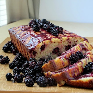 Wild Blackberry Bread....picked fresh blackberries early this morning w/ my Lil one...bread is cooling & smells yummy can't wait to try!