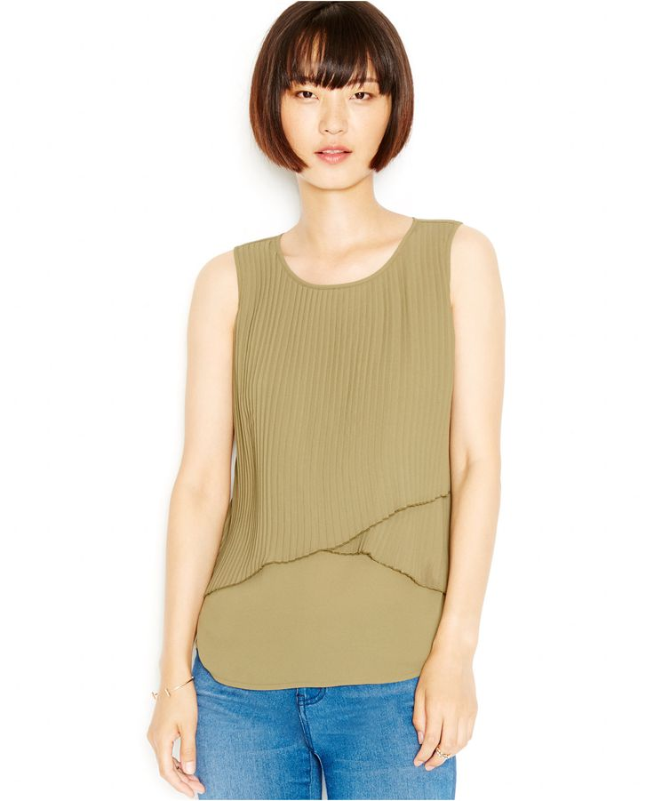 This Olive Green Must Have From Bar III Takes Layered Style To The Next  Level. Pair This Pleated Gem With Your Favorite Boyfriend Jeans For A  Relaxed, ...