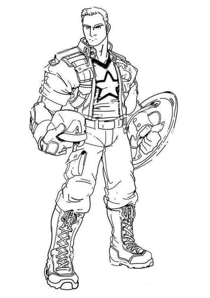 Captain America Without Mask Coloring Pages Captain America Coloring Pages Superhero Coloring Pages Avengers Coloring Pages