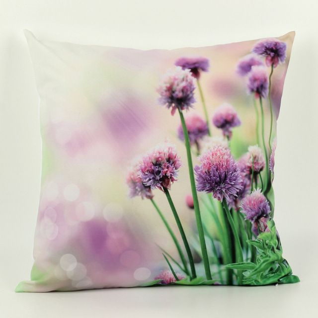 45cm *45cm 3D decorative throw pillows Cushion Cover flower 1 side printing Cushions almofadas para sofa Covers