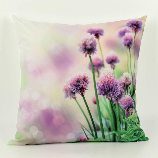 45cm *45cm 3D decorative throw pillows Cushion Cover flower 1 side printing Cushions almofadas para sofa Covers