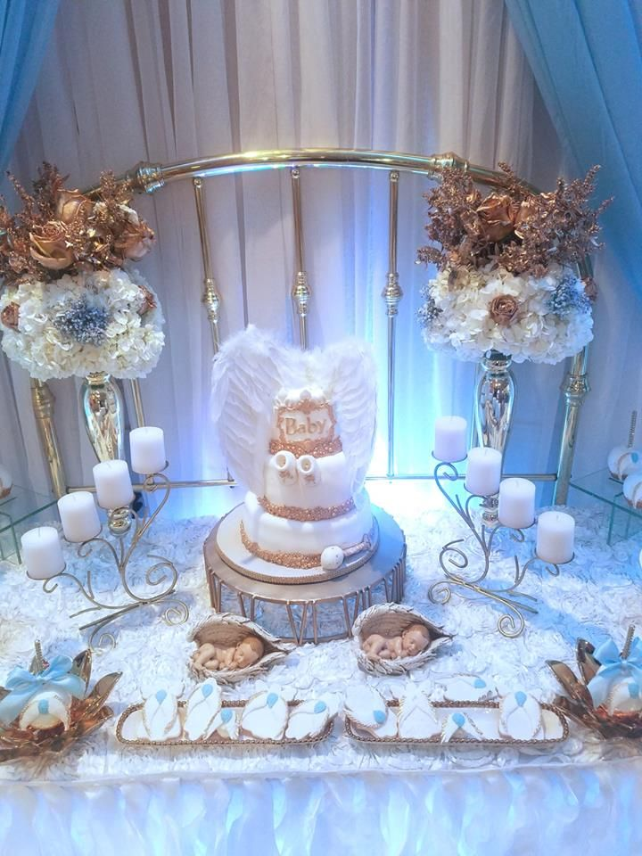 57 best baby shower angel theme inspirations images on for Angel decoration
