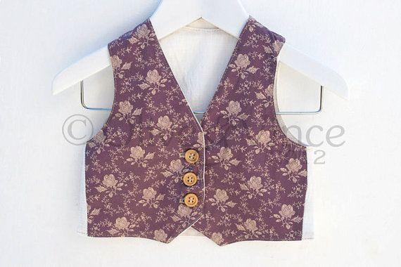 Kids clothing SALE - Purple floral waistcoat ready to ship love romantic childrens formal vest dusky pink rose lilac violet