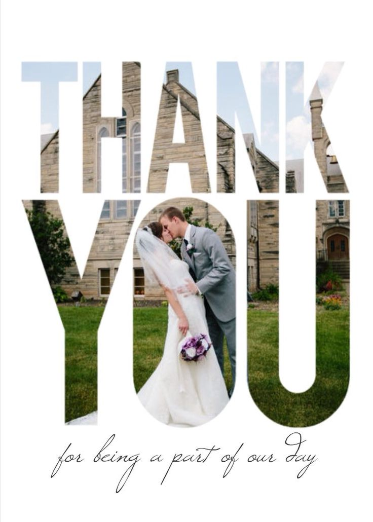 personalized wedding thank you notes%0A Mixbook Bold Overlay Wedding Thank You Cards