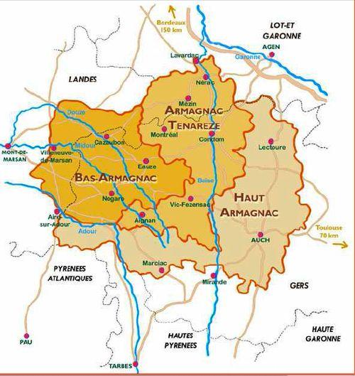 zona armagnac mapa
