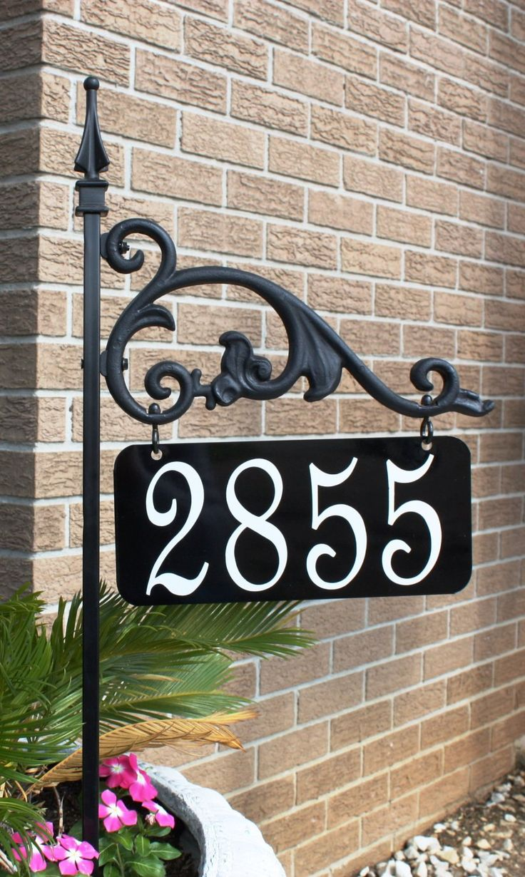 Decorative House Number Signs address plaques and signs Annandale Reflective Address Sign By Addressamerica On Etsy 4497