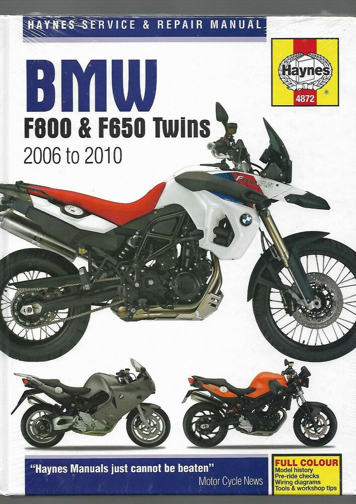 New Sealed Haynes Bmw F800 F650 Twins 2010 S St Gs R