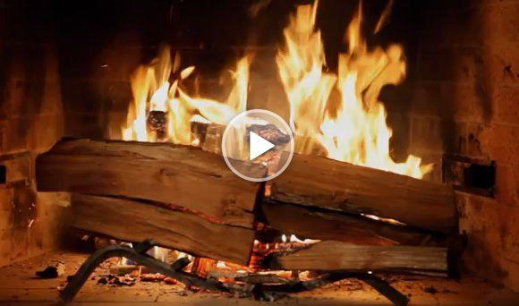 An epic trailer for Netflix's fireplace video