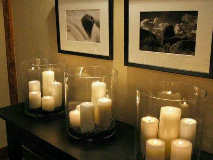 Inexpensive Pillar candles' idea