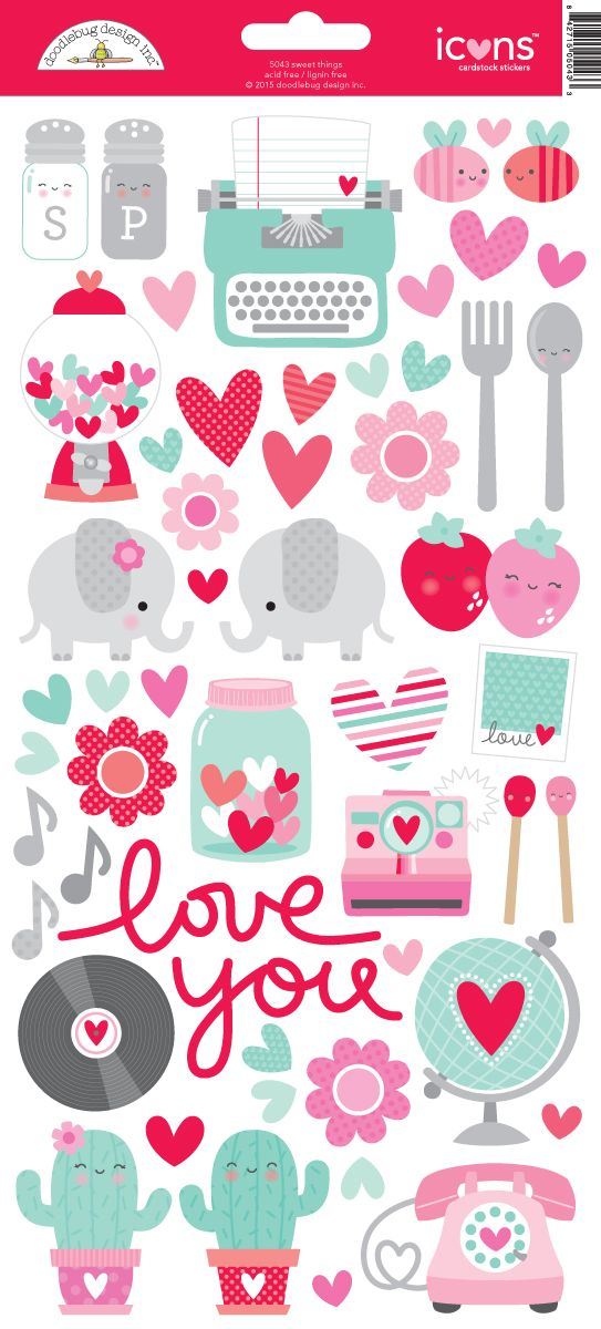 DB Sweet Things Icon Stickers 5043 X 1