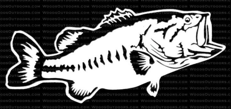 Largemouth bass fishing window decal fishing for Free fishing decals