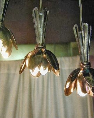 Bunched-spoons lighting.