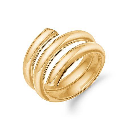 8 kt. guld spiral ring