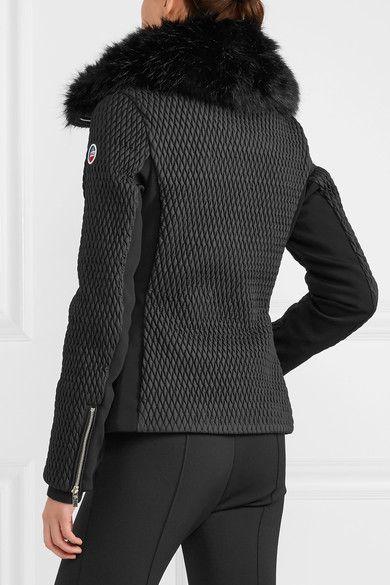 Fusalp - Montana Faux Fur-trimmed Quilted Ski Jacket - Black - FR46