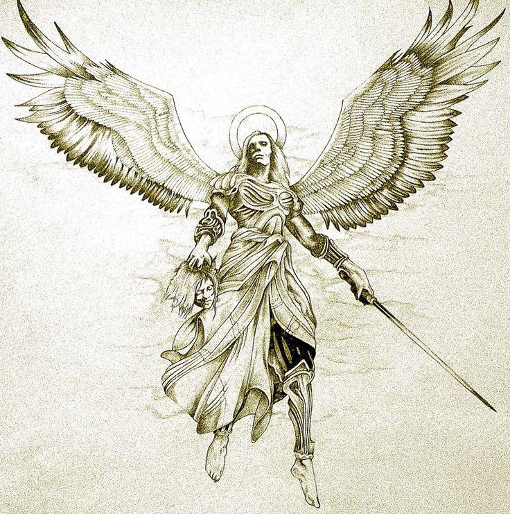 Archangel Gabriel #ink #tattoo #tatouage #inspiration