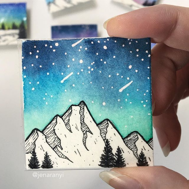 Remember that video I shared last weekend? Well here's the finished shot of that painting! It's actually a magnet, and will be listed on my etsy next week when I'm back from vacation. Want to claim it for yourself? DM me and it's yours! All magnets like this are $12 plus shipping