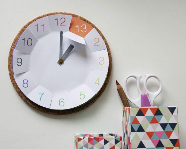 Uhrzeit lernen - IKEA Hack mit Bastelvorlage www.limmaland.com