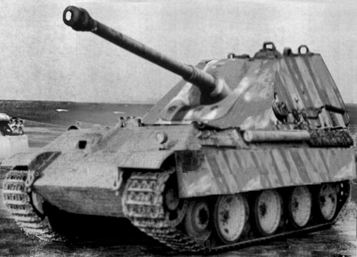 A very unusual Panther Ausf G modification making this tank more of a self propelled gun.