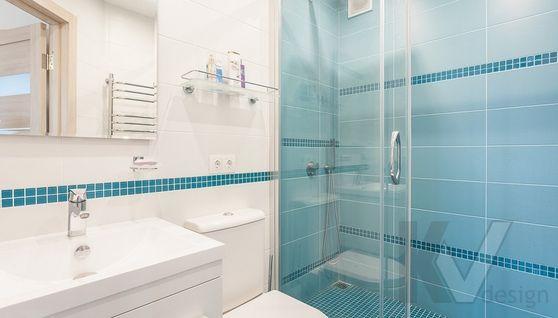 дизайн ванной комнаты двухкомнатной квартиры II-18/9 - 1