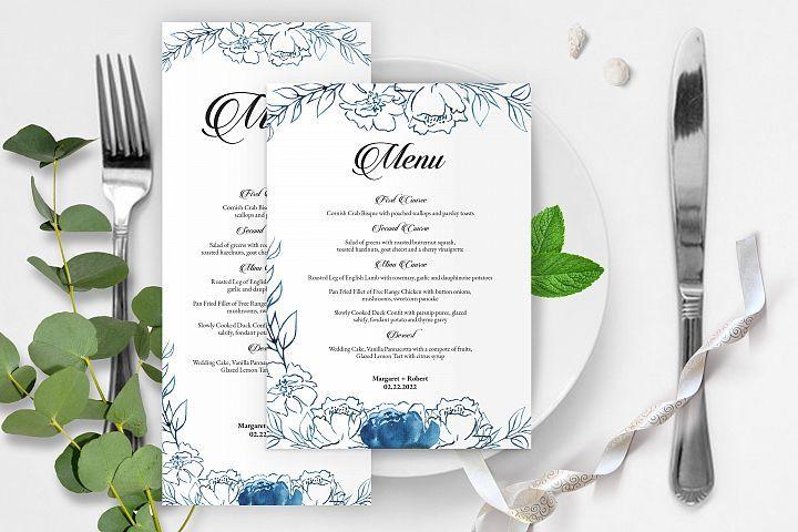 Wedding Menu Card Template 298274 Card Making Design Bundles In 2021 Menu Card Template Wedding Menu Template Menu Template