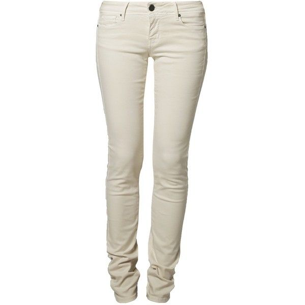 Cimarron JACKIE RASO Slim fit jeans nacre (€90) ❤ liked on Polyvore featuring jeans, pants, bottoms, brown skinny jeans, brown jeans, cimarron, slim fit jeans and cimarron jeans
