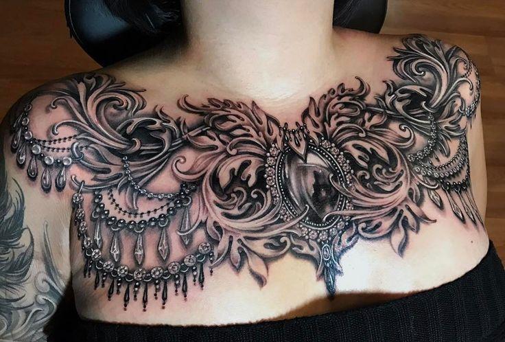 Pin von Tattoos auf Tattoos For Women | Tattoo dekoltee