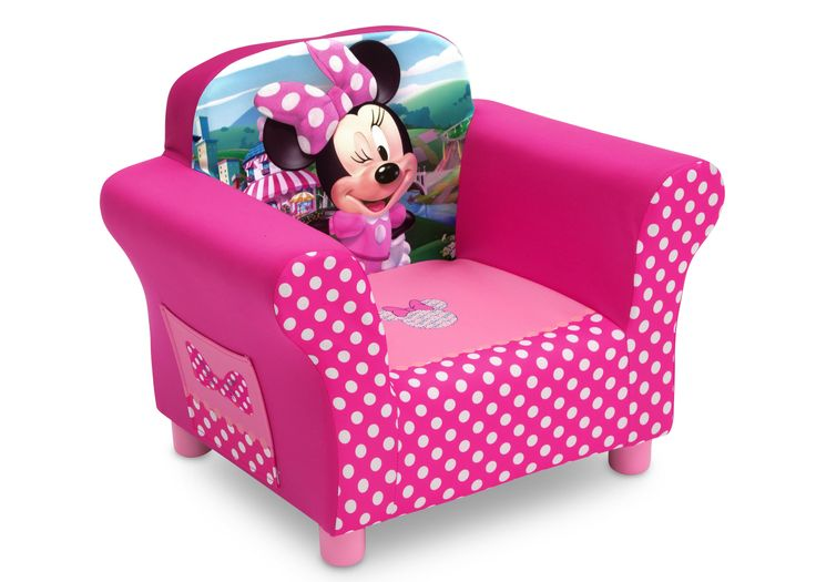 Sheu0027ll Love To Snuggle Up In This Disney Minnie Mouse Upholstered Chair  From Delta Children! A Cozy Toddler Chair, It Features A Durable Wood  Frame, Plush ...