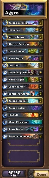 Aggro Mage deck which is very useful against other aggro decks especially for hunters. #Blizzard #Hearthstone #Legend #UCBx432