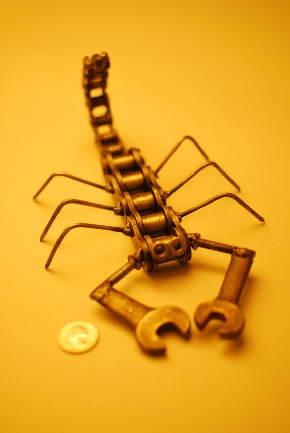 Scorpion King made from Welded Junk Metal by dremeWORKS on Etsy, $59.00: