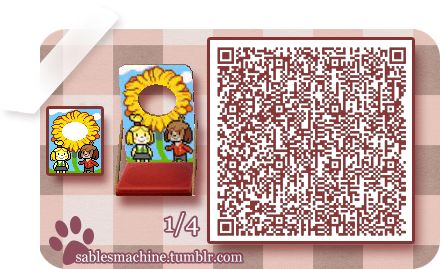 Isabelle and Digby Sunflower Face Cut-Out Standee QR Code