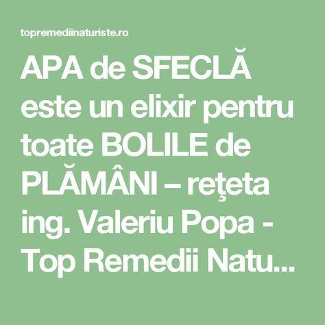 APA de SFECLĂ este un elixir pentru toate BOLILE de PLĂMÂNI – reţeta ing. Valeriu Popa - Top Remedii Naturiste