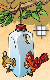 33 best images about ways to reuse milk laundry bleach for Plastic milk carton bird feeder
