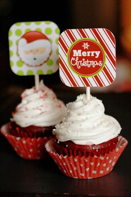 Red velvet Christmas Cupcake | Yumminess !!! | Pinterest