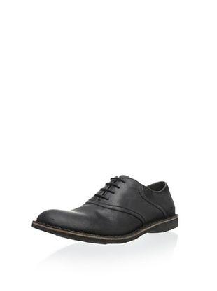 50% OFF Andrew Marc Men's Dorchester Saddle Oxford (Black/Amethyst/Black)
