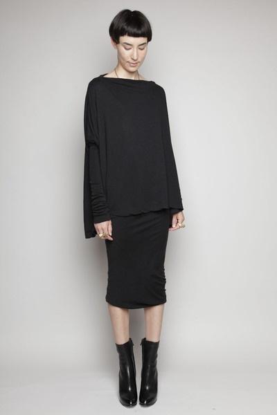 Totokaelo - Rick Owens Lilies - Narrow Pencil Skirt - Black