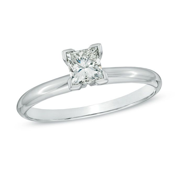Rings Under 1,500. Style 19958721, 12CT white gold princess-cut ...