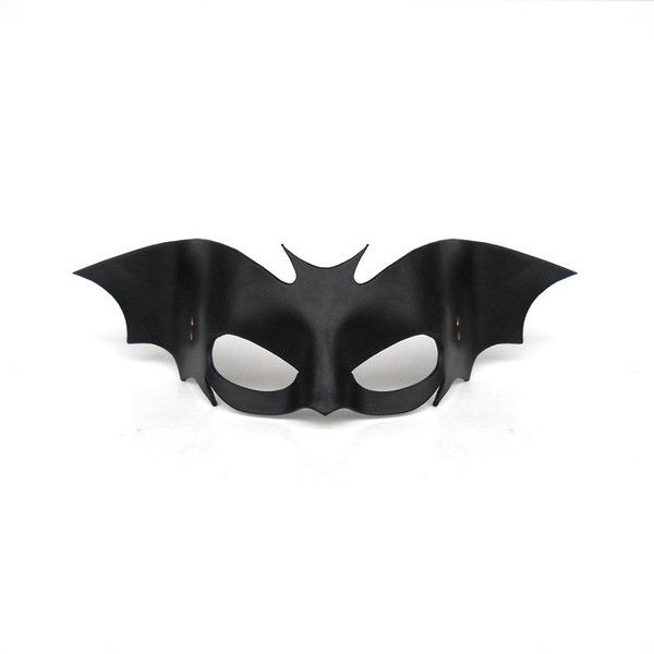 Bat Leather Mask Black Halloween Cosplay Batwoman Batgirl Batman... ($39) ❤ liked on Polyvore featuring costumes, accessories, masks, sexy batman costume, superhero costumes, sexy super hero costumes, batgirl costume and cosplay costumes