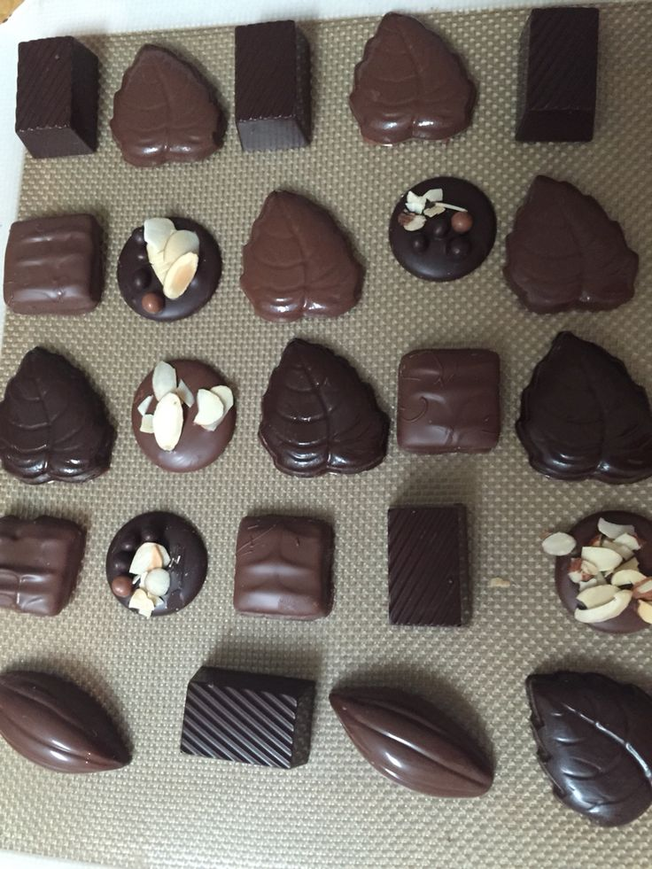 All home made tempered chocolates