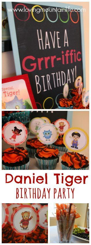 Daniel Tiger Birthday Party with FREE Printables from Loving Mountain Life