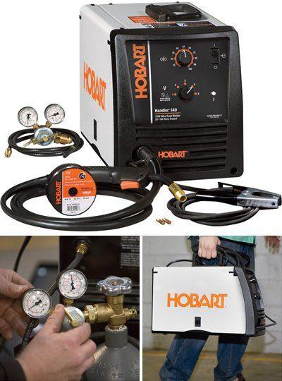 Hobart Handler 140 Mig Wire Welder   Hobart Handler 140 Flux Cored Mig Welder Transformer 115v 25 140