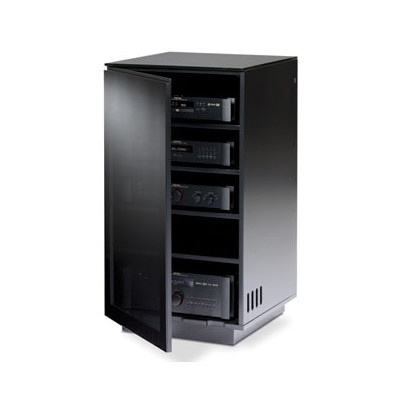 Superior BDI Mirage Audio/Video Cabinet In Black #hometheater #cabinet #furniture