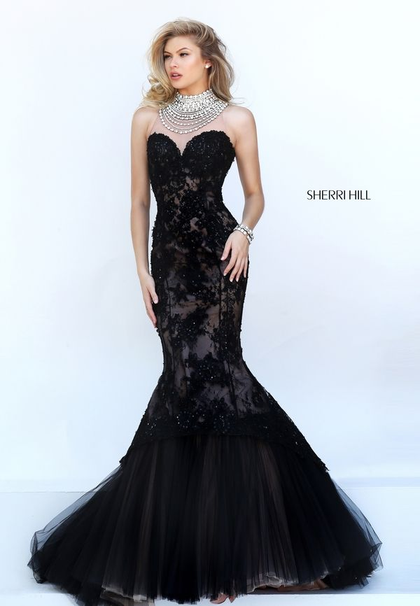 Captivate Attention In The Alluring Sherri Hill 50356 Trumpet Silhouette Prom Dress Sleeveless Sweetheart