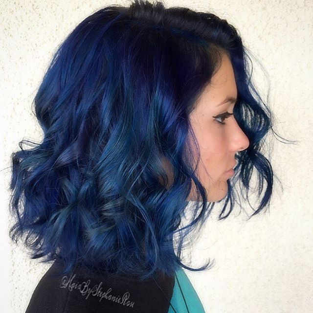 ... Blue Hair on Pinterest | Colourful hair, Dyed hair and Dark blue hair