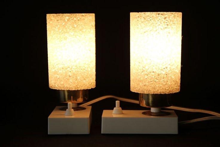 2 beau ancienne Lampe de chevet DDR Lampe Culte Rétro Design Années 70 années