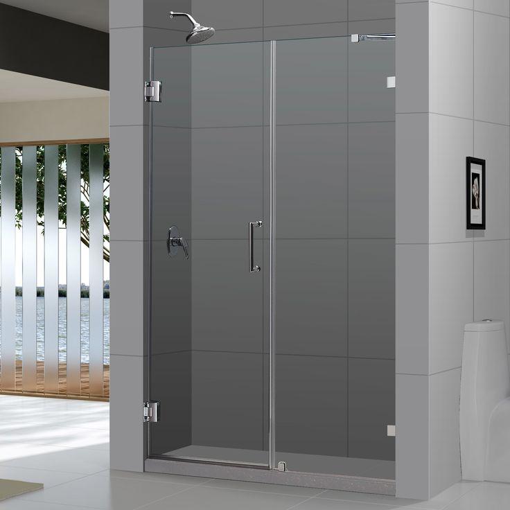 Contemporary Bathroom Doors: DreamLine Unidoor Lux 57-60 In. Frameless Hinged Shower