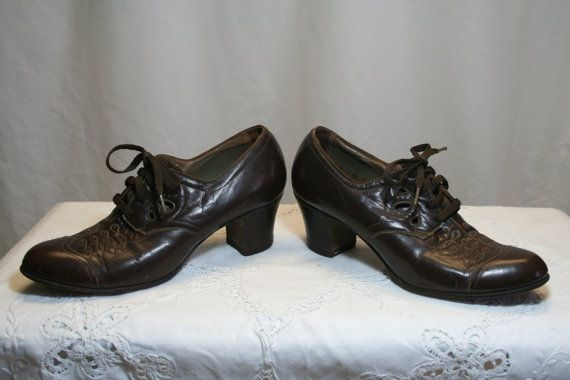 Proper 'granny' brogues - I love wearing these with a vengeance!