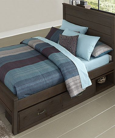 Loving this Espresso Highlands Alex Panel Full Bed with Storage on #zulily…