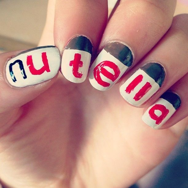 The Best Nail Art of the Week: Nutella. Silly but fun.