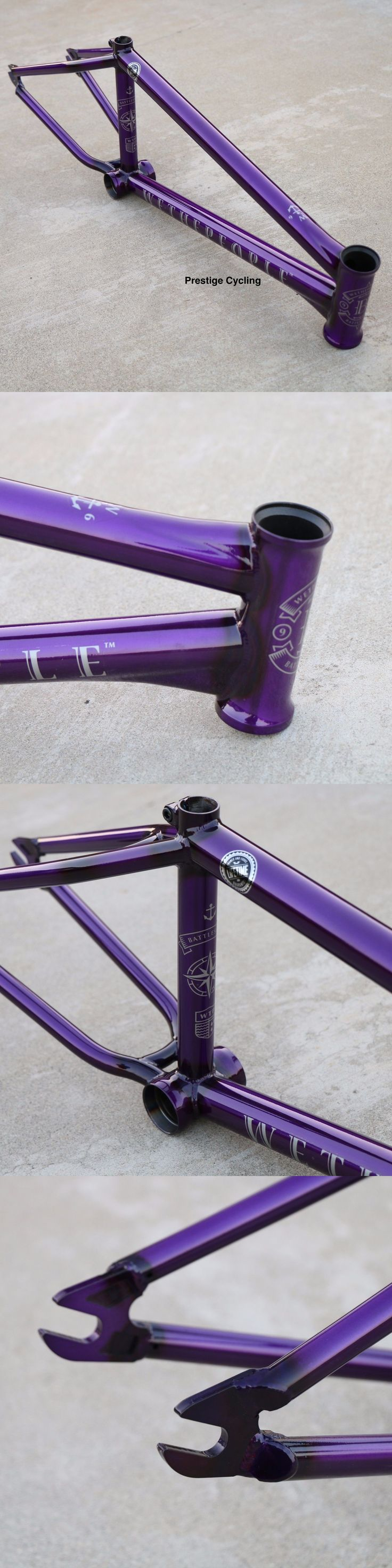 bicycle parts: We The People Bmx Battleship Bicycle Frame 21 Trans Purple Sunday Fit Cult -> BUY IT NOW ONLY: $319.95 on eBay!